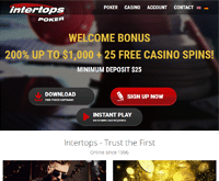 Intertops Poker Homepage