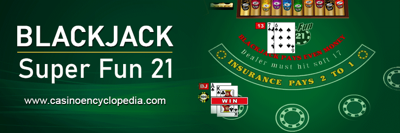 Super fun 21 blackjack header