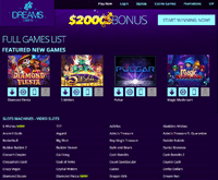 Dreams Casino Games
