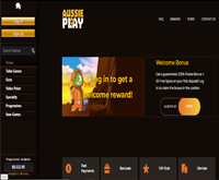 aussie play casino lobby