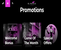 el royale casino promotions screenshot