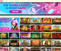 Queen Play Casino Homepage