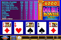 Double Bonus Poker Strategy
