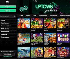 Uptown Pokies Casino Lobby