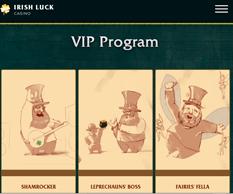 Irish Luck Casino VIP Program