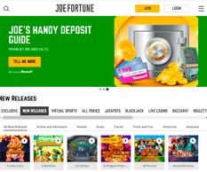 Joe Fortune Casino Homepage