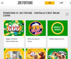 Joe Fortune Casino Promotions