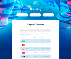Las Atlantis Banking page