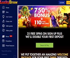 Lucky Draw Casino Homepage