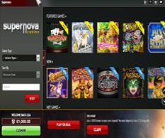 supernova casino games lobby
