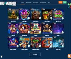 thunderbolt casino games lobby