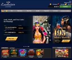 Exclusive Casino Homepage