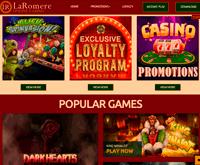 LaRomere Online Casino Homepage