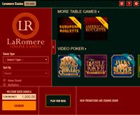 LaRomere Online Casino Lobby